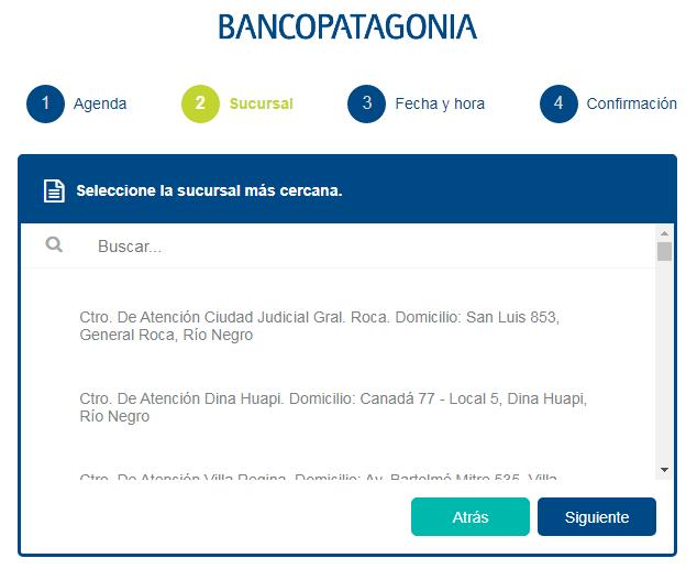 Turno para el Banco Patagonia